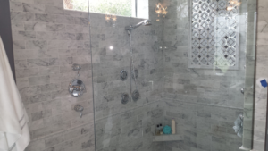 custom shower after